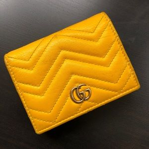 Gucci mini Marmont Matelasse GG quilted wallet